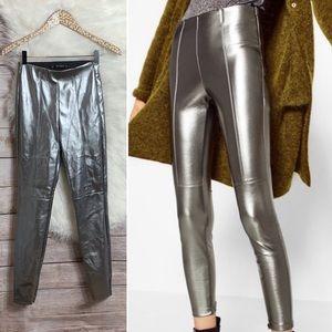 Zara (metallic silver leggings)